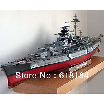 Amazon com: Free shipment diy paper model warship A3 paper