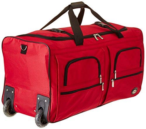 Amazoncom Rockland Luggage 30 Inch Rolling Duffle Bag Black