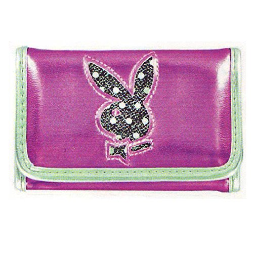 Playboy Disco Dot Trifold Wallet (Pink/Disco dot (Playboy : Womens Shoes)