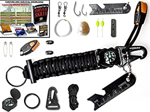 The #1 BEST Paracord keychain emergency kit : The perfect military survival kit Grenade with wilderness fishing kit, Flint fire starter tinder compass snap hooks eBooks lifetime