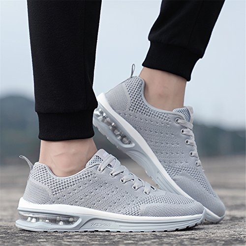 5066 Sports Gym Homme Sneakers Chaussures Femme de Outdoor Baskets Multisports de Fitness Chaussures Course athlétique Grey 1Zw8qH