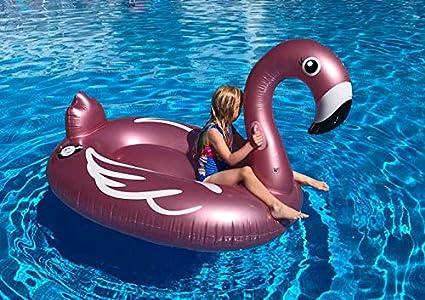 Flotador Inflable en Forma de Flamenco tamaño Gigante para la Piscina o Playa. Flamenco Flotador Hinchable para la Piscina o la Playa por Integrity co ...