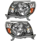 Headlights Headlamps Left   Right Pair Set for 05-11 Tacoma Sport Pickup Truck