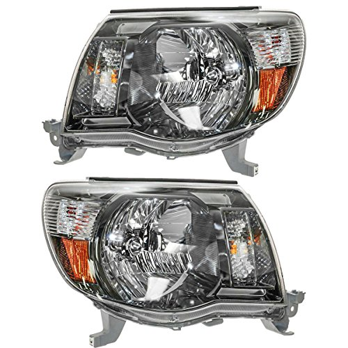 (Headlights Headlamps Left & Right Pair Set for 05-11 Tacoma Sport Pickup Truck)