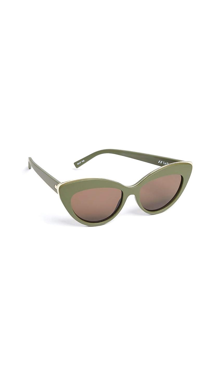 Le Specs Mujeres hermosas gafas de sol extraños Verde única ...