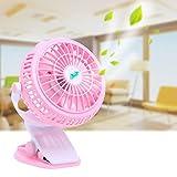 Portable Handheld Fan Usb Charging Small Fan Stroller Clip Fan Desktop Can Clip Fan with Mini Mute