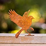 Elegant Garden Design Flying Bluebird, Steel Silhouette with Rusty Patina