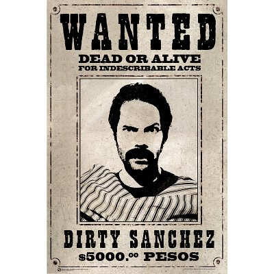 amazon com dirty sanchez wanted poster humor poster prints