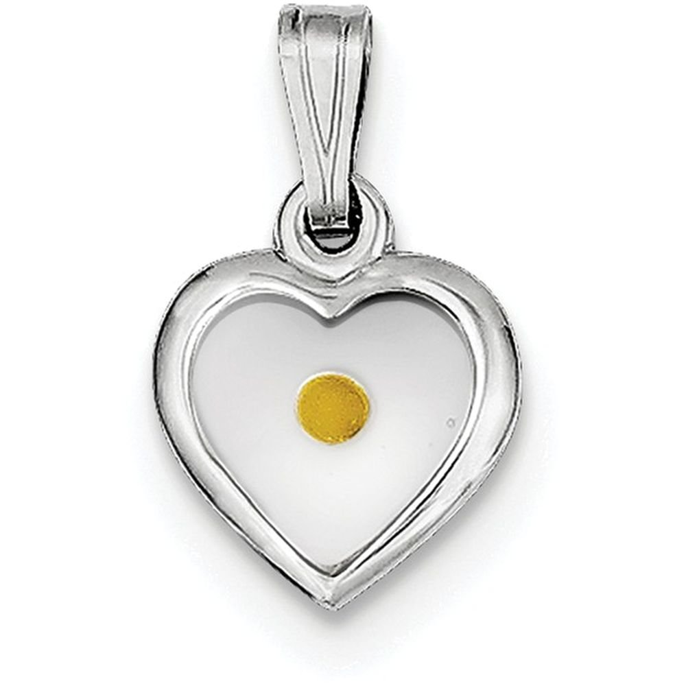 Finejewelers Sterling Silver Small Heart with Mustard Seed Pendant Necklace Chain Included by FJC Finejewelers