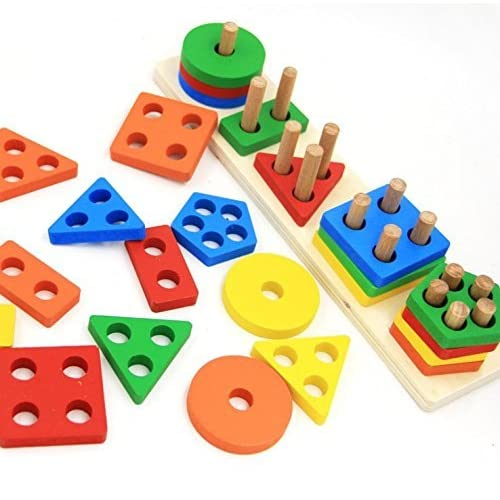Revanak Wooden Educational Preschool Toddler Toys For 1 2 3 4 5 Year