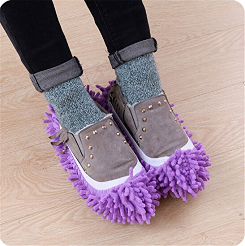 Heyuni. 1PC Mop Slippers Shoes Cover, Soft Wash...