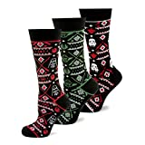 Men's Star Wars Set Darth Vader, Stormtrooper & Yoda Limited Edition Holiday Dress Crew Socks