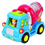 Toy Vehicle Set For Toddlers Push And Go Car Toys For Boys Friction Powered Push Go Cars Cement Mixer Truck Street Sweeper Harvester Truck With Automatic Functions Early Educational Toys For Toddler B