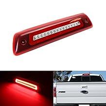 iJDMTOY Red Lens LED High Mount Brake Light, Reverse/Clearance Light Assembly For 2009-2014 Ford F-150 or Raptor