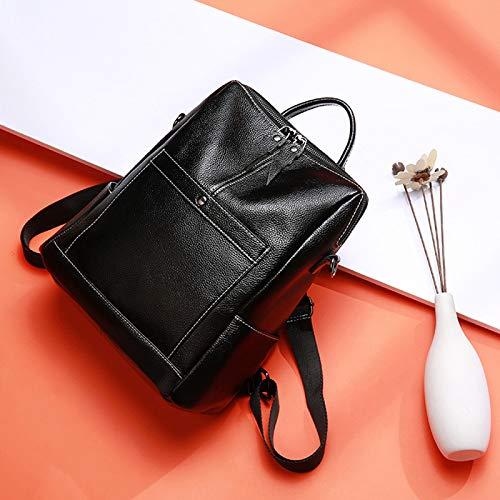 5 28 A Sacs à Sac 13 32cm Black Travel Epaule Sac Porté Cuir Sac Bandoulière Sac Cartable Femme à Sac Mode Main Dos à Dos Bag XqwB1