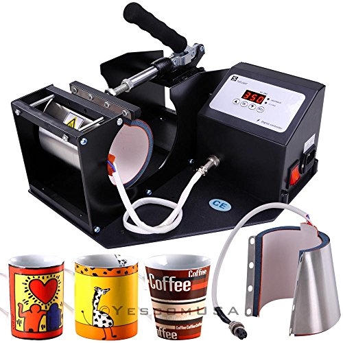 4 Programs Digital Cup Heat Transfer Press Sublimation Machine Coffee Latte Mug by Yescom