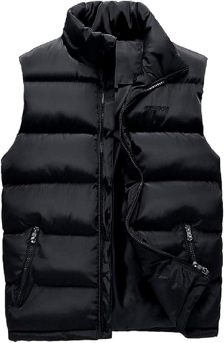 Zimaes-Men Big and Tall Windproof Detachable Hood Puffer Jacket