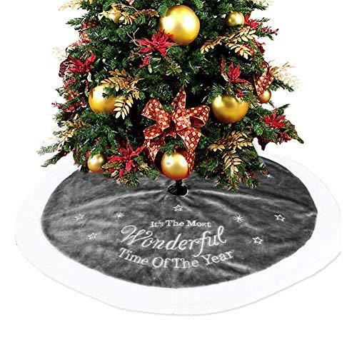 Mallallah couvre pie Árbol Falda Árbol de Navidad 35,4 Inch pie de ...