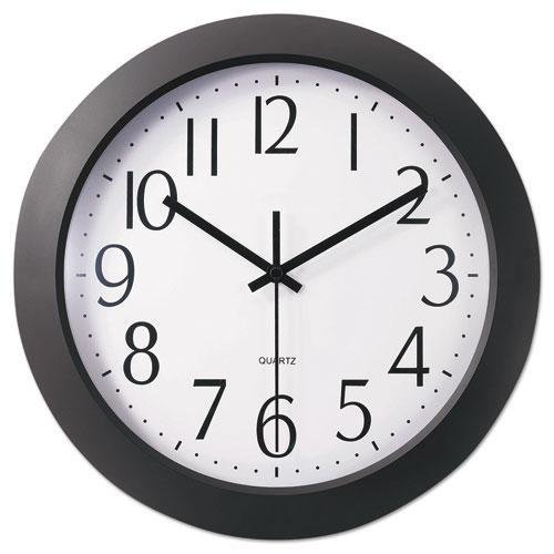 - Universal 10451 Whisper Quiet Clock, 12, Black, White