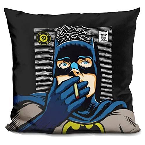 East Urban Home Dark Squa Batman Throw Pillow from East Urban Home