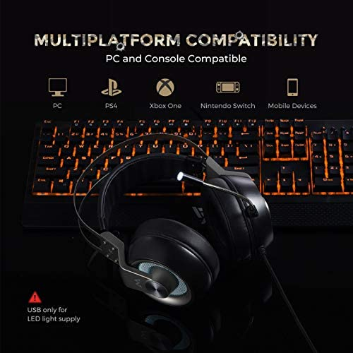 Mpow EG3 Pro – Over-Ear Gaming Headset for PC,PS4,Xbox One, Nintendo Switch,3D Surround Sound,Noise Cancelling Mic&Soft Memory Earmuff 51IEK 2BuXJuL
