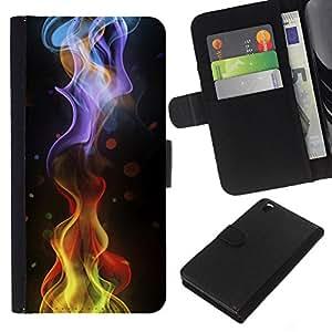 All Phone Most Case / Oferta Especial Cáscara Funda de cuero Monedero Cubierta de proteccion Caso / Wallet Case for HTC DESIRE 816 // Ripple Dot Black Abstract Smoke