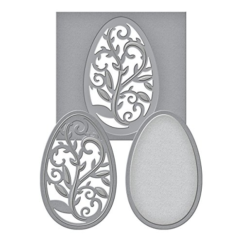 Spellbinders S2-053 Die D-Lites Filigree Egg Etched/Wafer Thin -