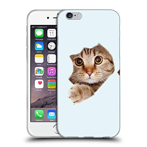 GoGoMobile Coque de Protection TPU Silicone Case pour // Q05670619 Trou papier chat bolle // Apple iPhone 7