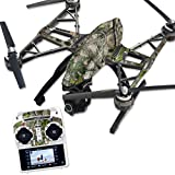 MightySkins Protective Vinyl Skin Decal for Yuneec Q500 & Q500+ Quadcopter Drone wrap cover sticker skins TrueTimber Htc Green