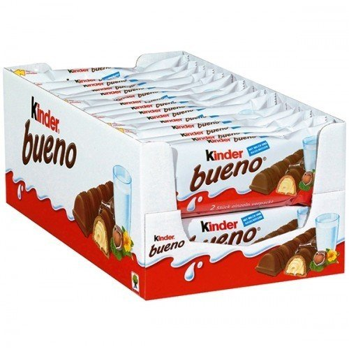 Ferrero Kinder Bueno Bars, 30Count, Brown