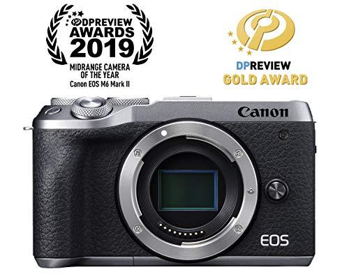 Canon Mirrorless Camera [EOS M6 Mark II](Body) for Vlogging|CMOS (APS-C) Sensor| Dual Pixel CMOS Auto Focus| Wi-Fi…