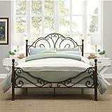 LeAnn Graceful Scroll Bronze Iron Bed Frame (King)