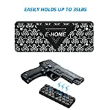 Gun Magnet Mount to Conceal, Display or Carry Your Handgun, Rifle, Pistol, Revolver, Shotgun - Strong 35 lbs Rated Magnetic Holder For Car, Truck, Safe, Desk and Office
