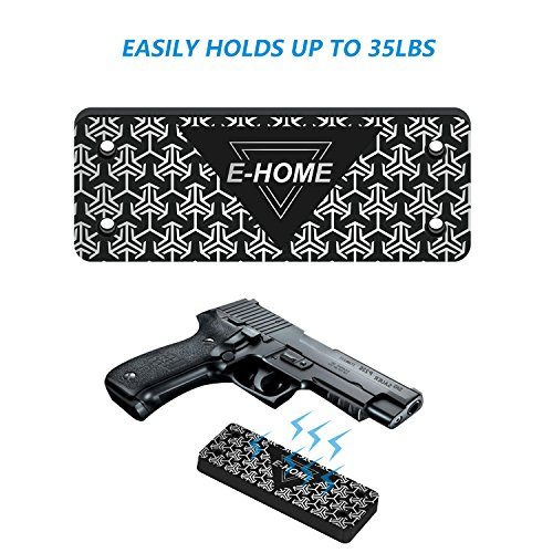 (Gun Magnet Mount to Conceal, Display or Carry Your Handgun, Rifle, Pistol, Revolver, Shotgun - Strong 35 lbs Rated Magnetic Holder for Car, Truck, Safe, Desk and Office)