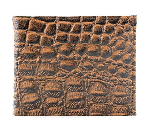Lizard Embossed Wallet - EMBOSSED Lizard Bi Fold Wallet Exotic Reptile and Animal Print Leather