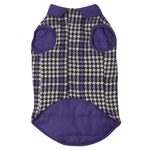 East Side Collection 12-Inch Polyester Houndstooth Dog Vest, Small, Ultra Violet