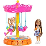 Barbie FJH89 Club Chelsea Carousel Swing Mattel (2 Dolls Included), Brown/a