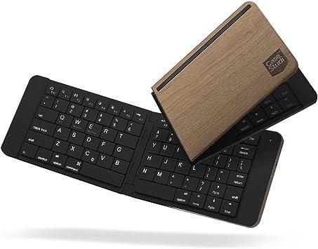 Teclado Bluetooth Plegable, Ultra Slim Mini Teclado Plegable ...