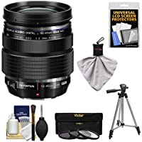 Olympus M.Zuiko 12-40mm f/2.8 PRO ED Digital Zoom Lens (Black) with Tripod + 3 UV/CPL/ND8 Filters Kit
