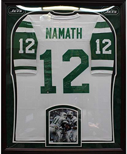 - 1969 New York Jets Elite Framed Team Signed White Joe Namath Mitchell & Ness Jersey (24 Signatures) - Steiner Sports Certified