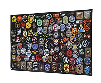 43.5x27.5 Antrix Tactical Morale Velcro Patch Holder Patch Panel Patch Wall Display Board Patch Hang Display Poster Frame Velcro Board Military Hook and Loop Backing Patch Hang Board Panel
