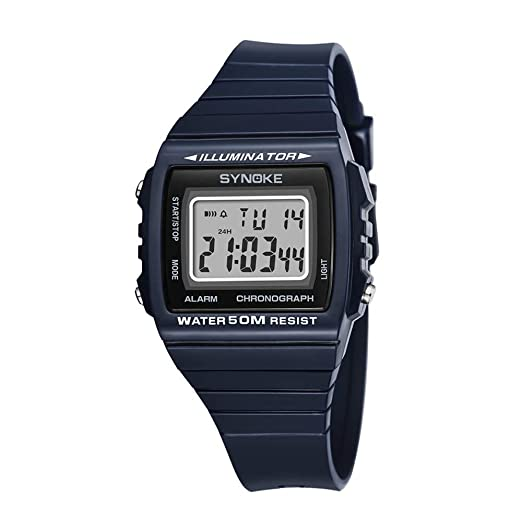 Amazon.com: Digital Watches for Men DYTA LED Sport Wrist ...