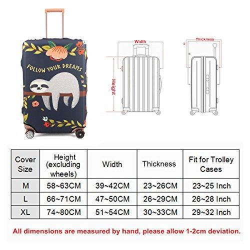 Madifennina Spandex Travel Luggage Protector Suitcase Cover Fit 23-32 Inch Luggage (sloth, XL) by Madifennina (Image #7)