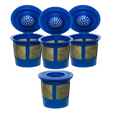 4X Premium Gold Tone Reusable Single Cup Keurig Solo Filter Pod Coffee from IPM Inc