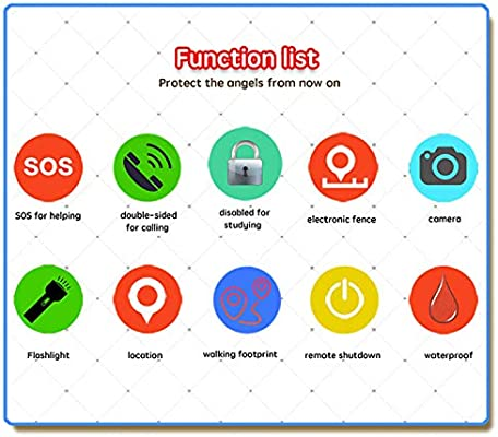Kids Smartwatch - GPS Tracker Smartwatches Wrist Digital Watch Phone SOS Alarm Clock Camera Flashlight Phone Watch for Children Age 3-10 Boys Girls ...