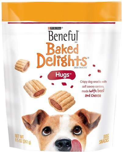 Beneful Baked Delights Dog Snacks, Hugs, 8.5-ounce Pouch, Pack of 5