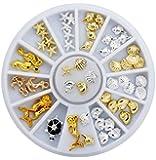 3D Design Glitter Alloy UV Gel Tips Sea Shell Starfish Style Nail Art Rhinestone Decorations DIY Salon Manicure Tools Set
