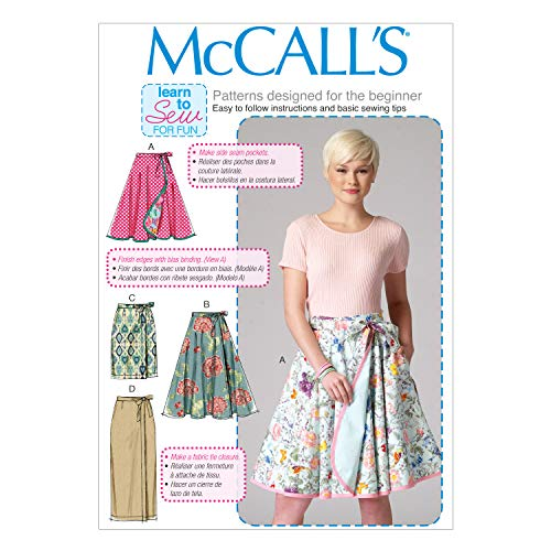 McCall's M7129-B50 Misses' Skirts-8-10-12-14-16 Size B5 (8-10-12-14-16) (Wrap Skirt Around Pattern)