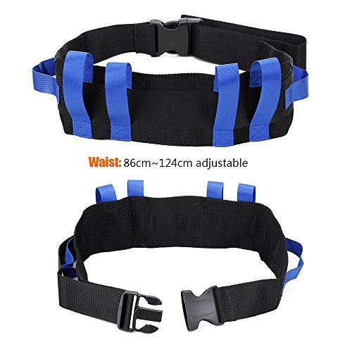 Transfer Gait Belt Patient Walking Safety Lift Sling Medical Slide Board Wheelchair & Bed Transport Physical Therapy Nursing Assistant Gate Belts for Seniors, Bariatric, Elderly (Blue) by NEPPT (Image #2)