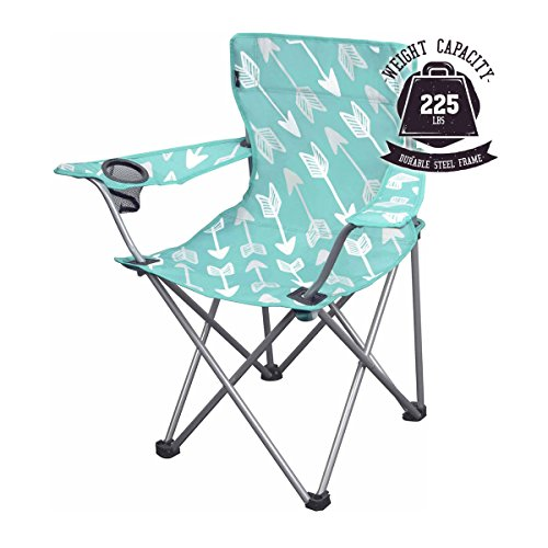 OZARK Trail Youth Folding Chair For all Outdoor Activities Purple Teal (Kids Outdoor Folding Chair)